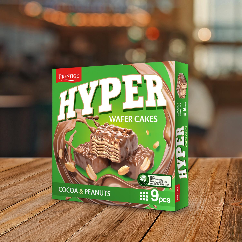 Хипер вафлена торта с Какао и фъстъци