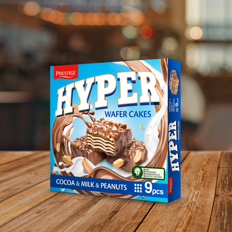 Хипер вафлена торта с Какао, мляко и фъстъци