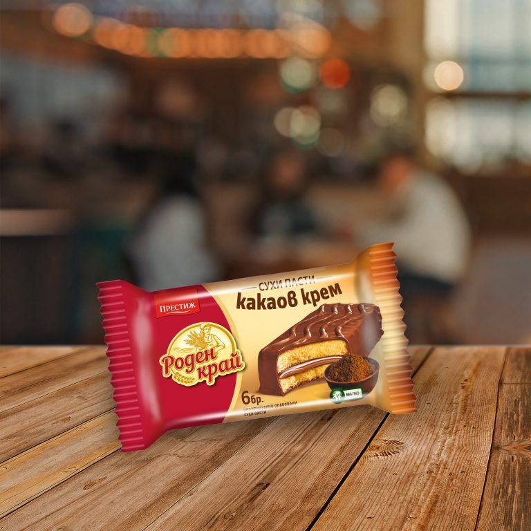 Роден край сухи пасти Крем какао