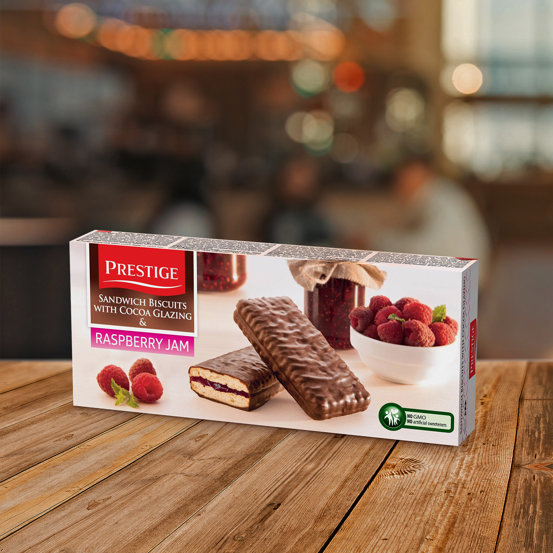Prestige Biscuits With Jam Raspberry