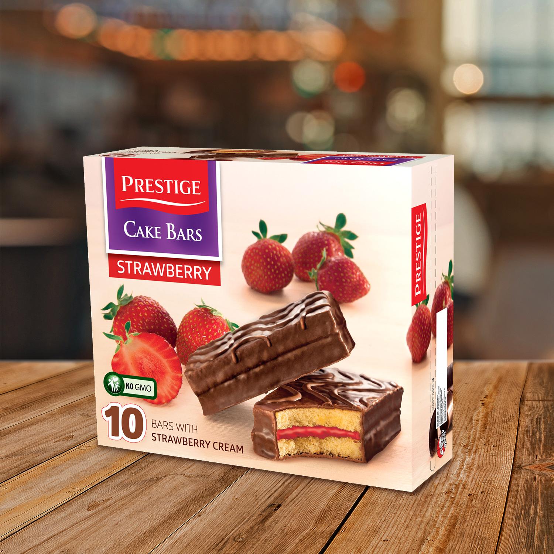 Prestige Cake Bars Family Pack Strawberry