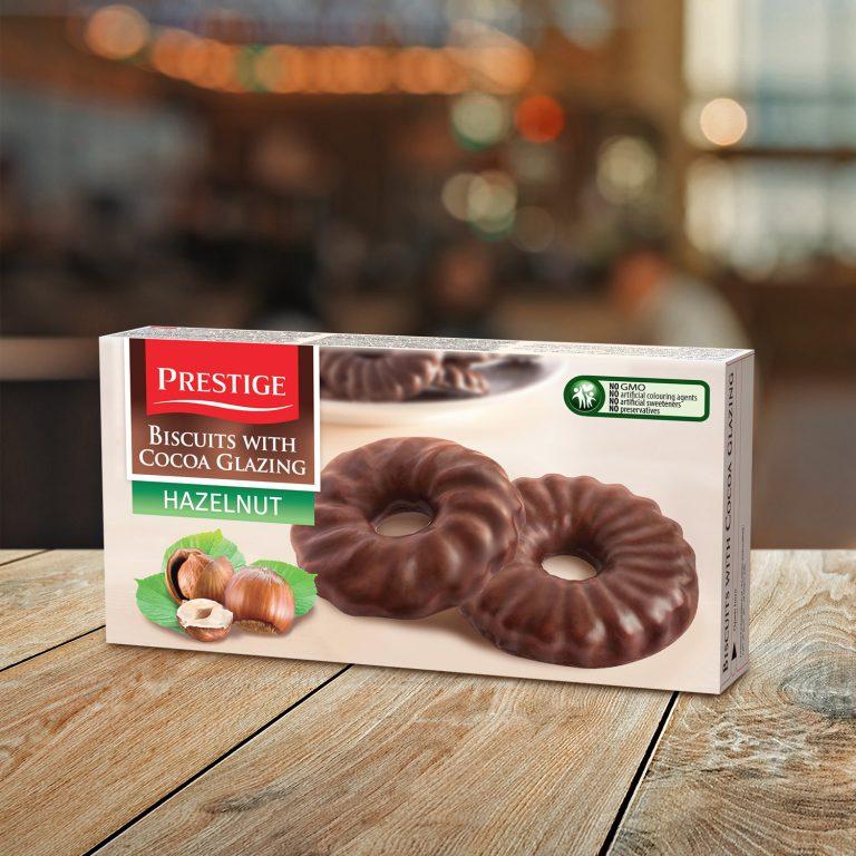Prestige Coated Biscuits Hazelnut