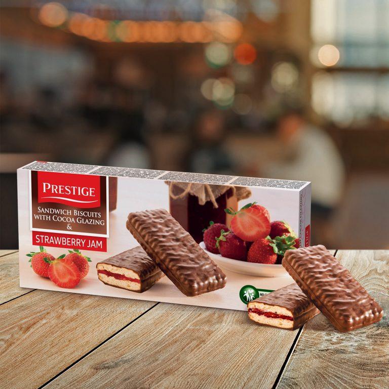 Prestige Biscuits With Jam Strawberry